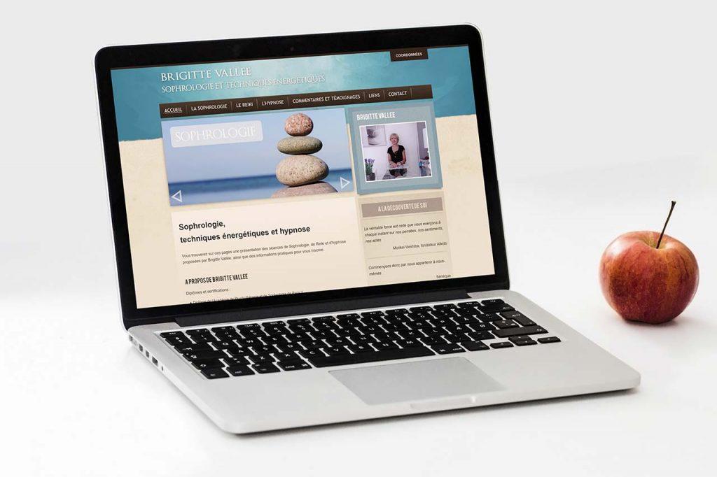 Création du site de Brigitte Vallée