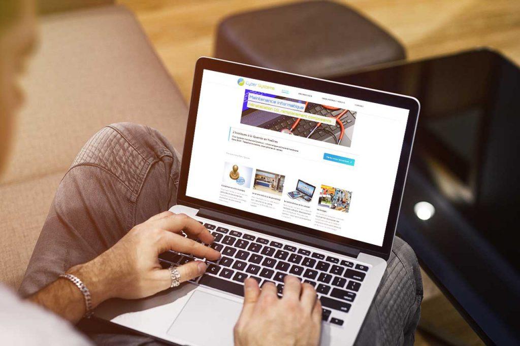 Refonte du site de la société Cyber Systems