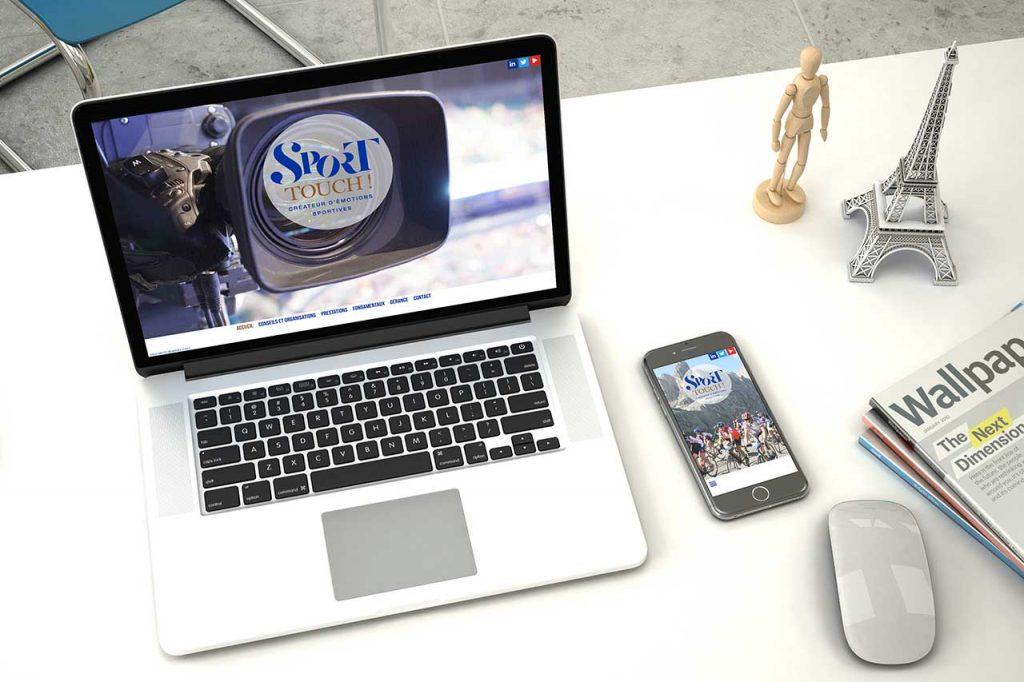 Création du site de la société Sport Touch