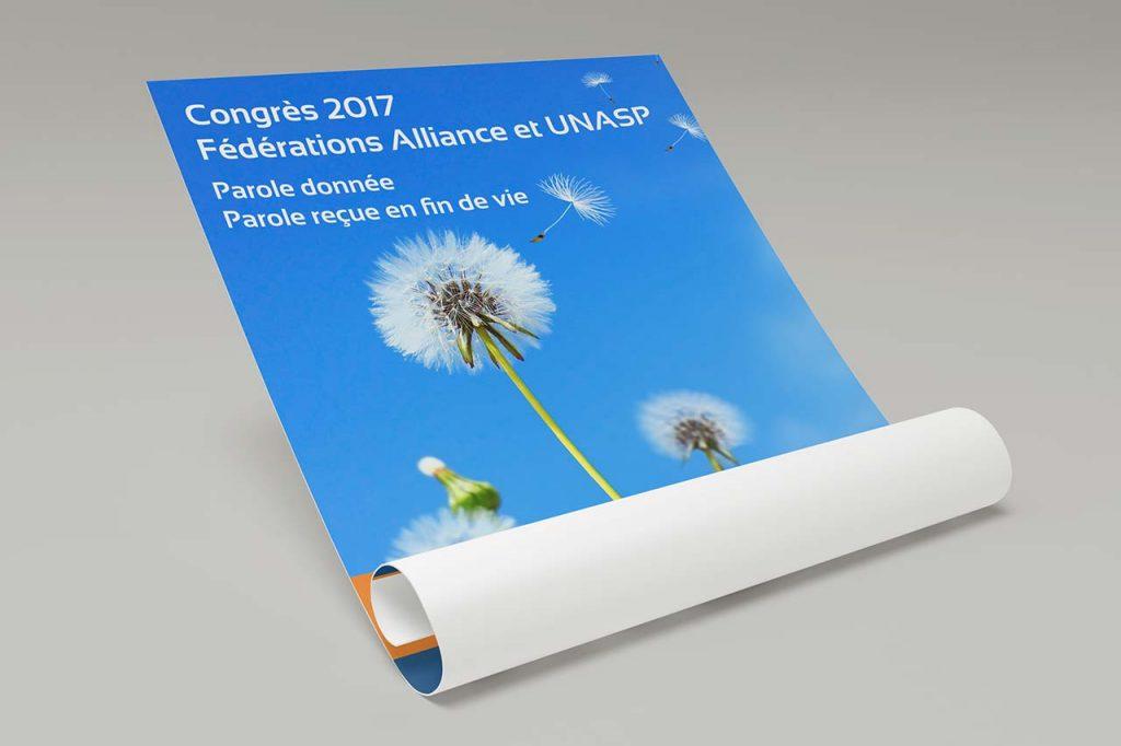 Réalisation des flyers et affiches du Congrès 2017 UNASP / Alliance
