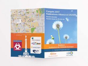Flyer du Congrès de l'UNASP 2017 (vue extérieure)