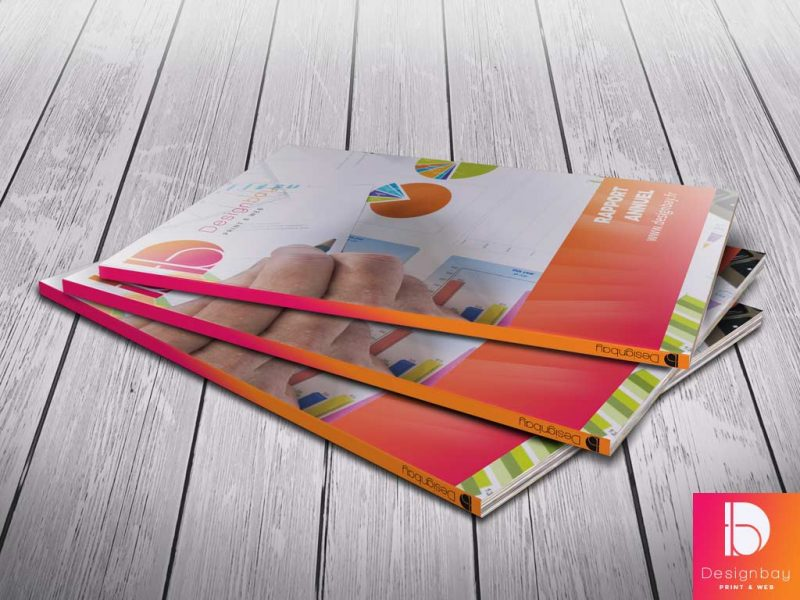 Brochure contrecollée format A4