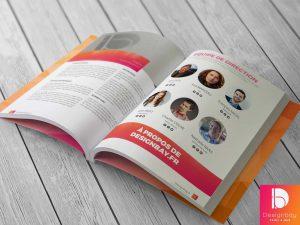 Brochure points métal, Brochure contrecollée, Brochure spirale
