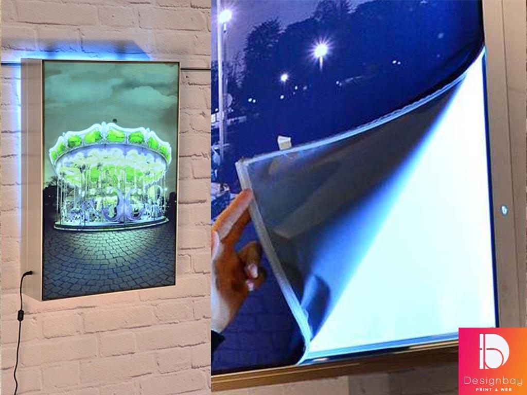 Caisson lumineux mural à LED
