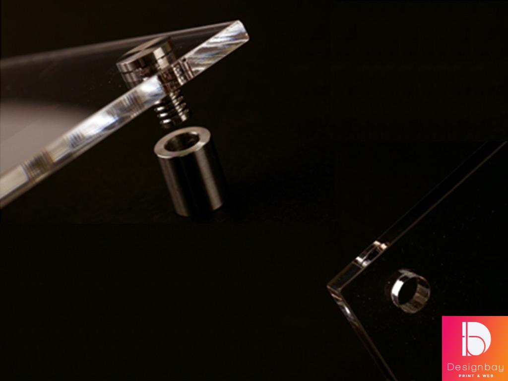 Fixation plaque de verre