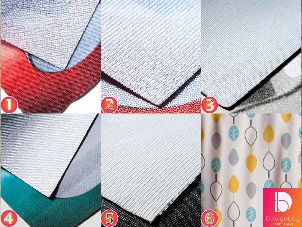 Impression sur textiles variés, coupe droite ou à la forme