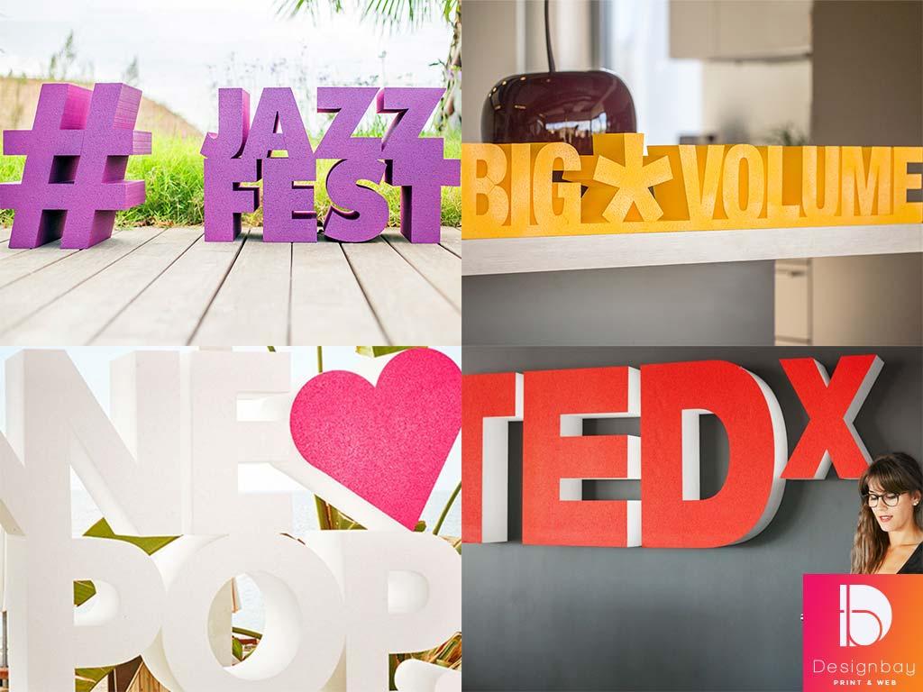 Lettres 3D polystyrène