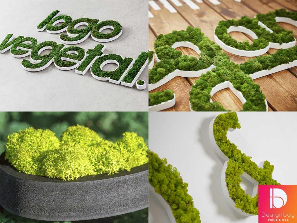 Logo végétal naturel sur support PVC
