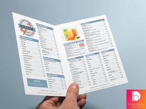Menus dépliants, Menus brochure, Menu indéchirable, Porte-menu & porte-addition, Décoration de table, Sets de table, Textile, Sacs papier et tissus, Tapis de sol, Tableau lumineux, Stop-trottoir