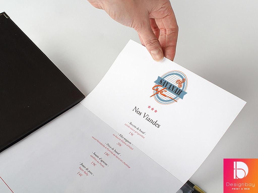 Porte-menu haut de gamme, pochette intérieure