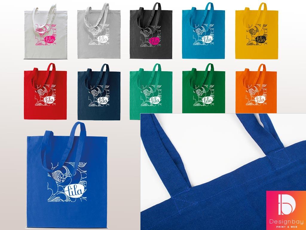 Sacs textile, 12 coloris