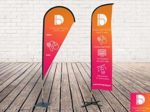 Roll-up, Affichage multimédia, Bannières, Totems, Kakemonos, Drapeaux et voiles, Identification Salon, Stands Salon, Mobilier publicitaire