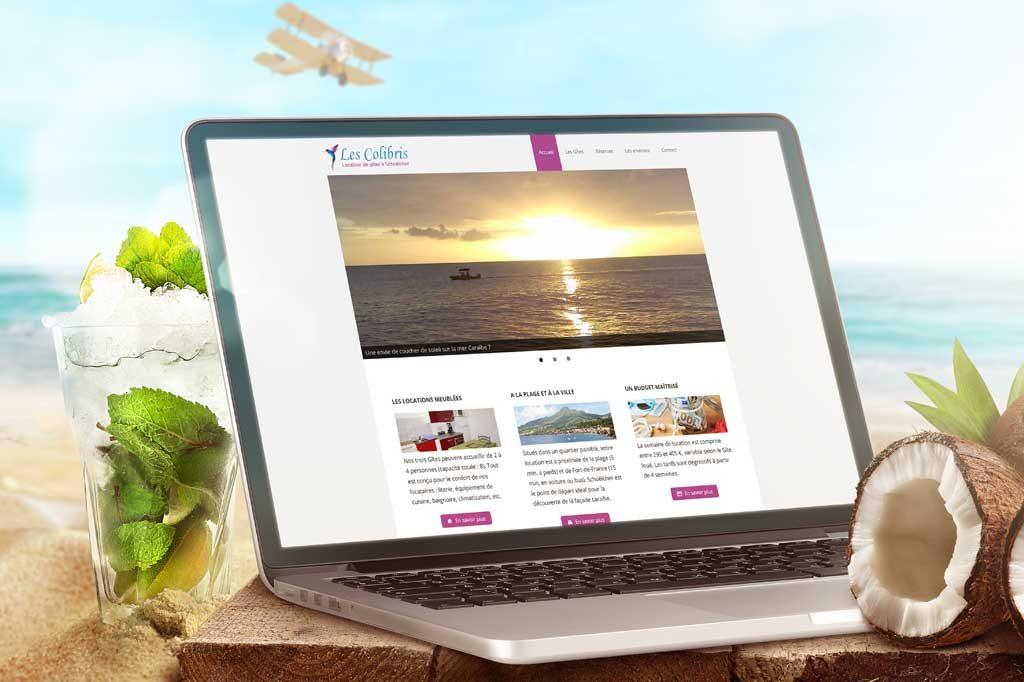 Création du site gites-schoelcher.com