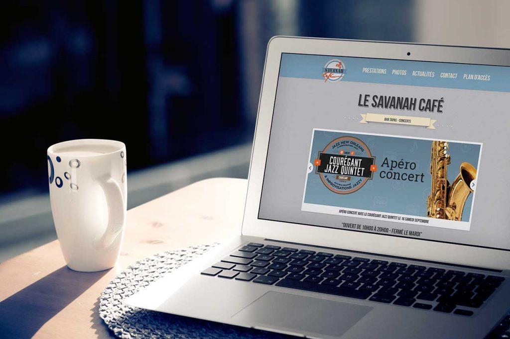 Création du site internet du Savanah Café