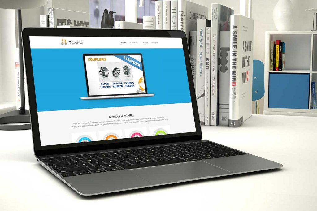 Création du site, du logo et de la carte de visite Ycapei.com