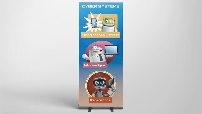 Décoration des boutiques Cyber Systems