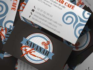 Cartes de visite du Savanah Café