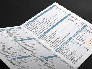 Carte des boissons du Savanah Café
