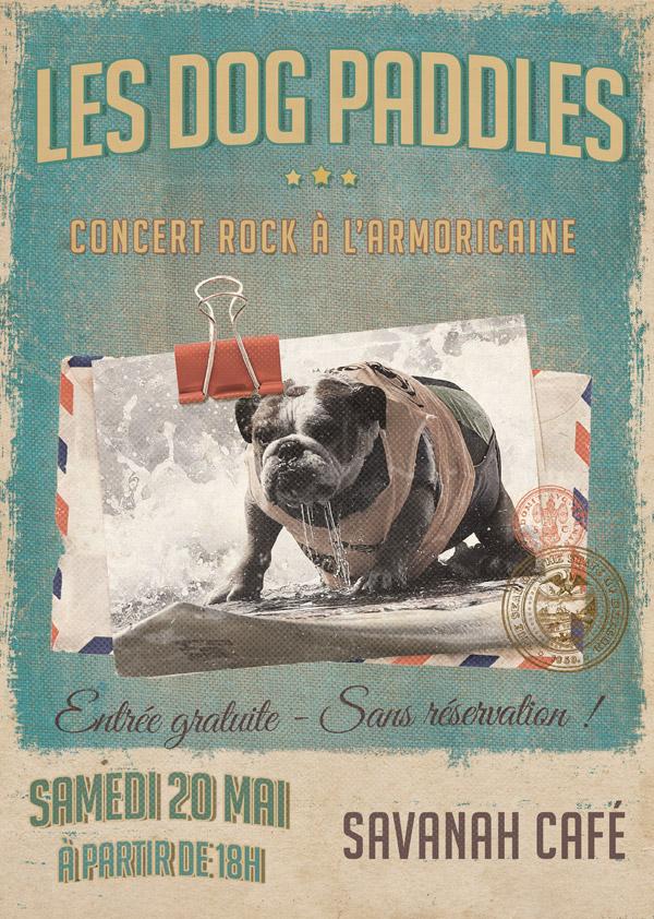 Affiche concert - Dog Paddles