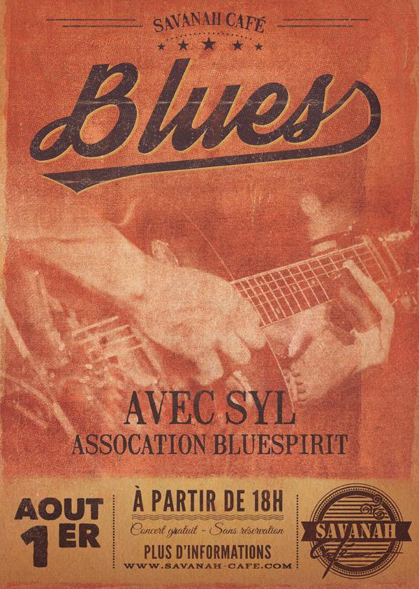 Affiche concert - Blues Syl