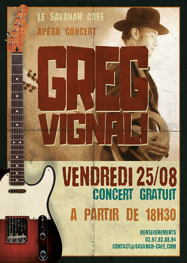 Affiche Concert - Greg Vignali