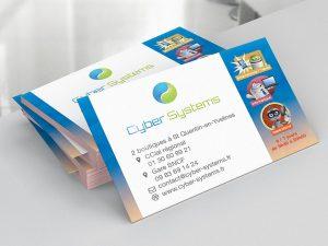 Création des cartes de visite de la société Cyber Systems