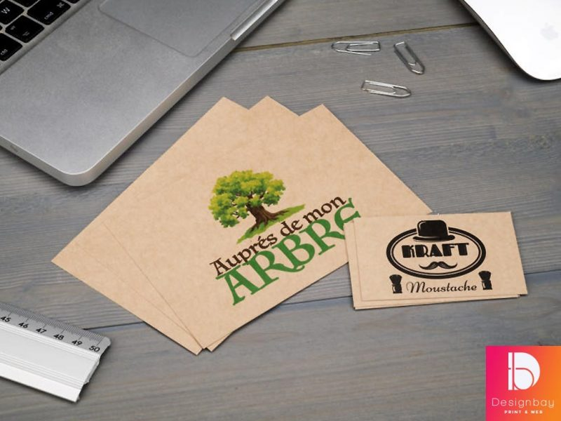 Impression Cartes de visite sur papier écologique Kraft