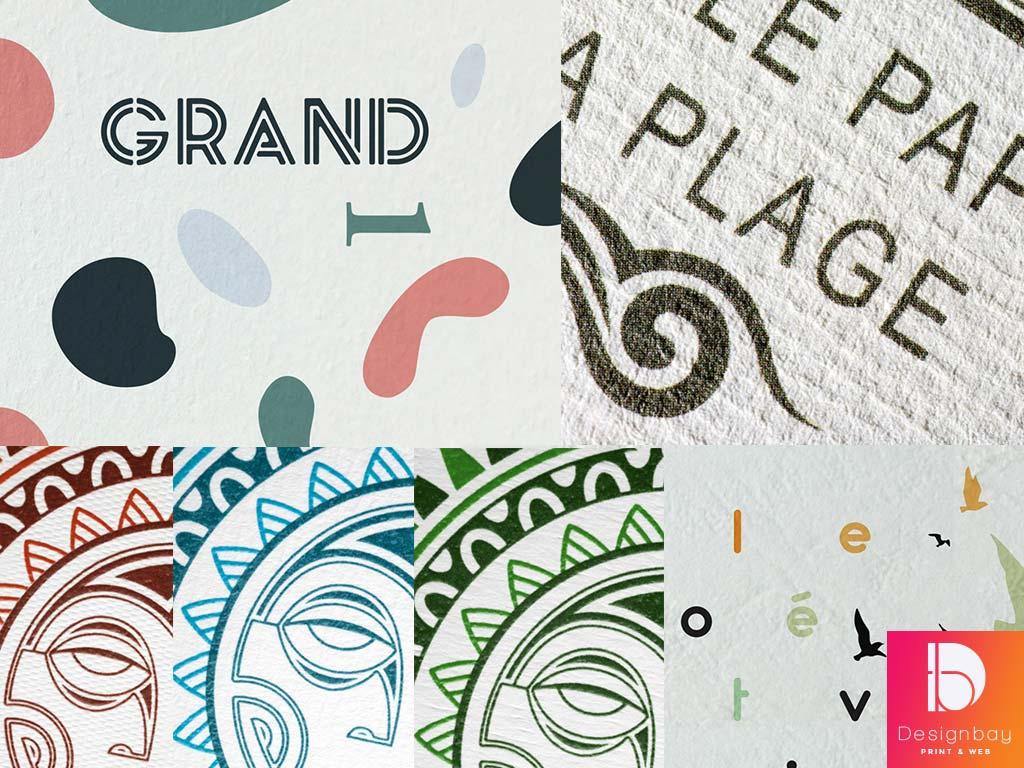 Carte de voeux sur papier texturé