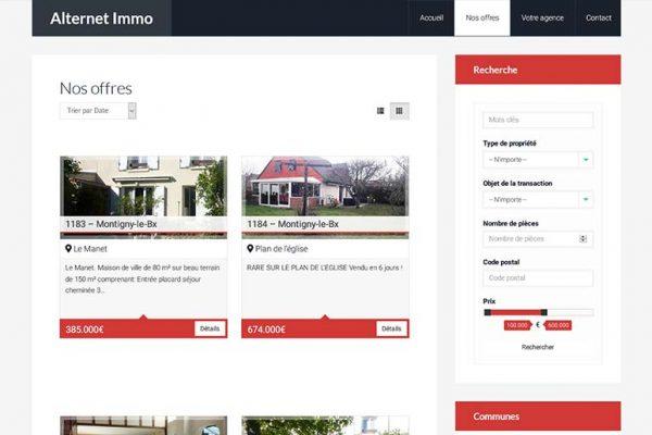 Alternet Immo – Catalogue des propriétés