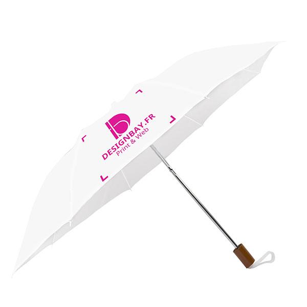 ac71 Parapluie à 2 sections blanc