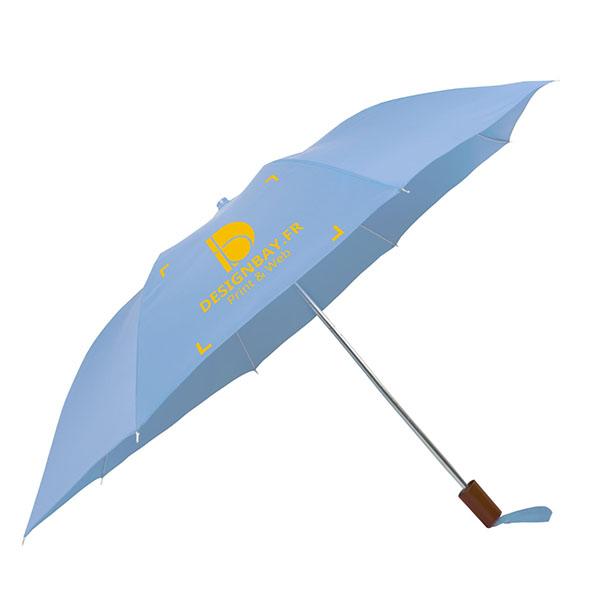 ac71 Parapluie à 2 sections bleu ciel