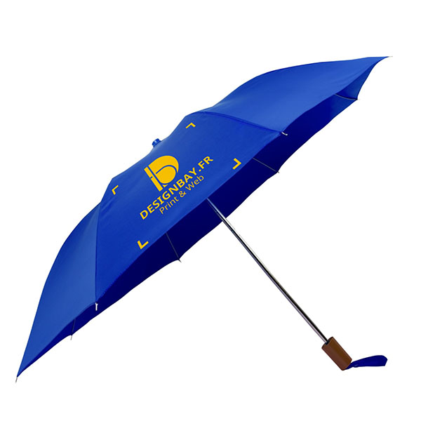 ac71 Parapluie à 2 sections bleu