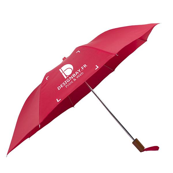 ac71 Parapluie à 2 sections rouge