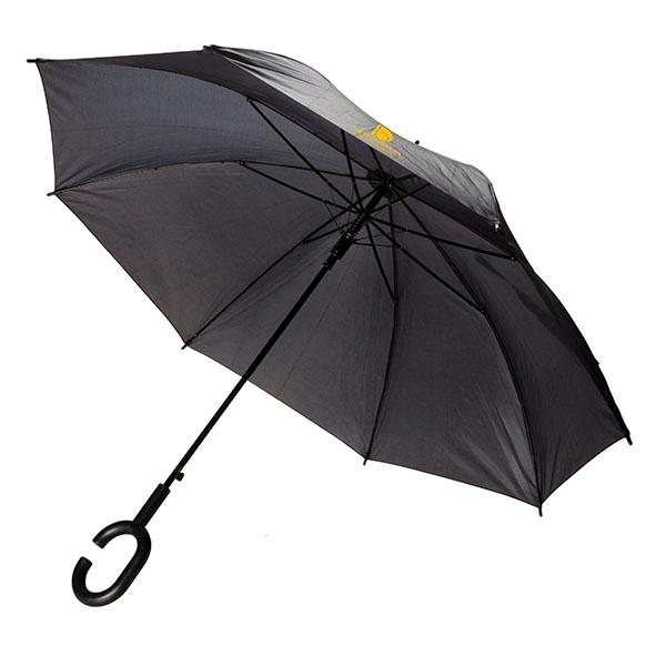 ac74 Parapluie mains libres noir