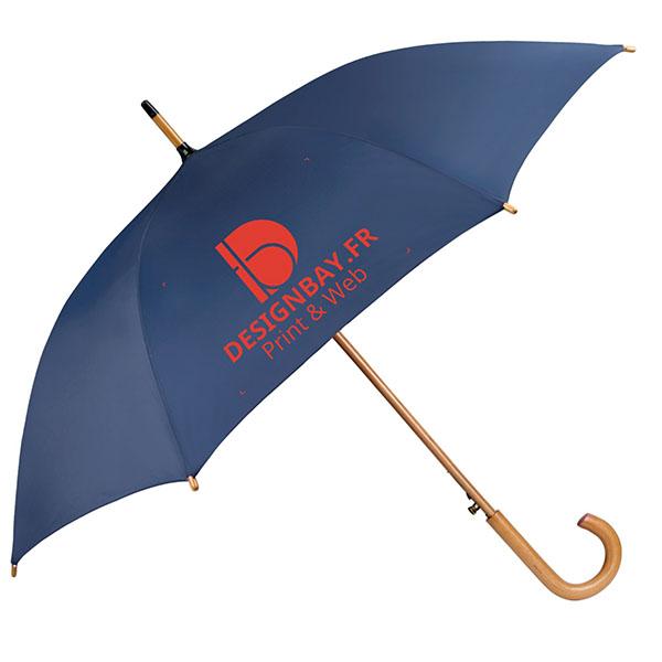 ac76 Parapluie classique automatique bleu marine