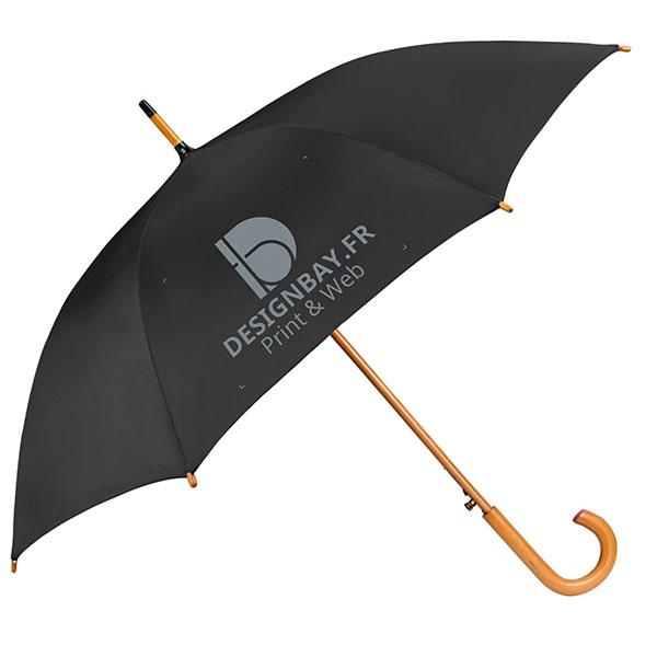 ac76 Parapluie classique automatique noir