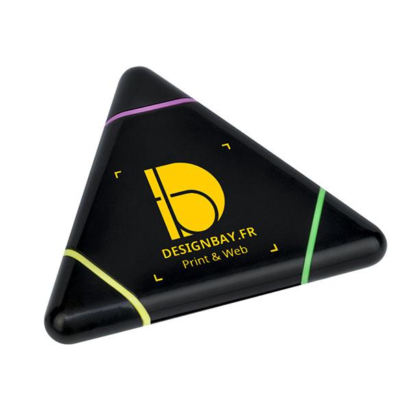 bu105 Surligneur Triangle des Bermudes noir