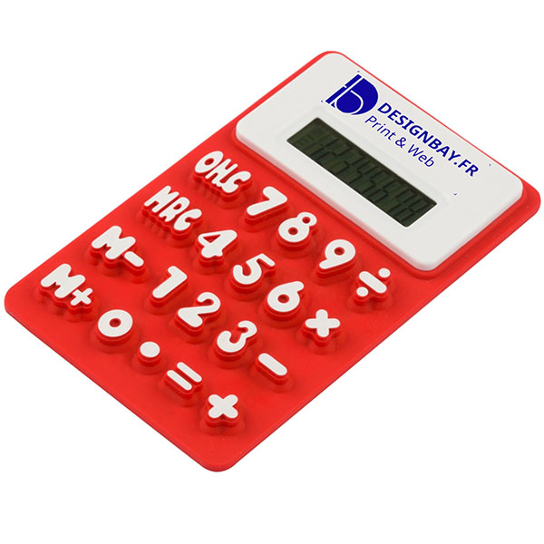 bu116 Calculatrice flexible rouge
