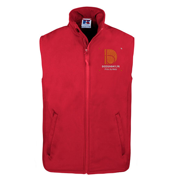 gi21 Gilet Veste Smart Softshell rouge