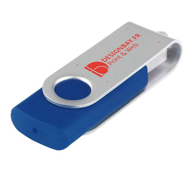 ht76 Clé USB basique rotative de 4 Go bleu