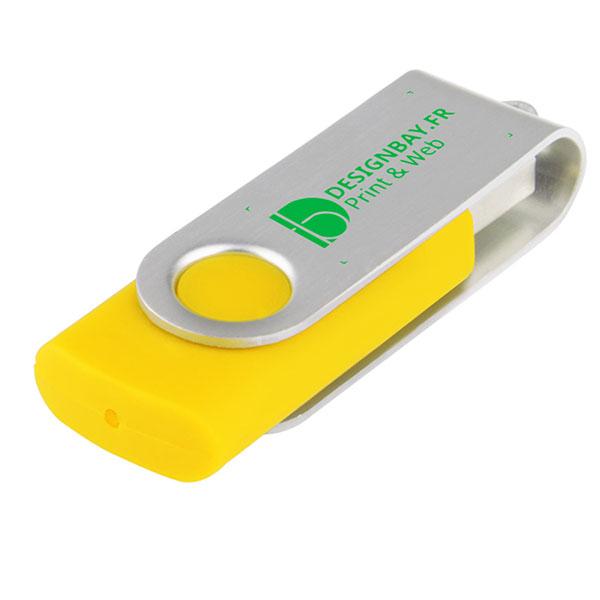 ht76 Clé USB basique rotative de 4 Go jaune