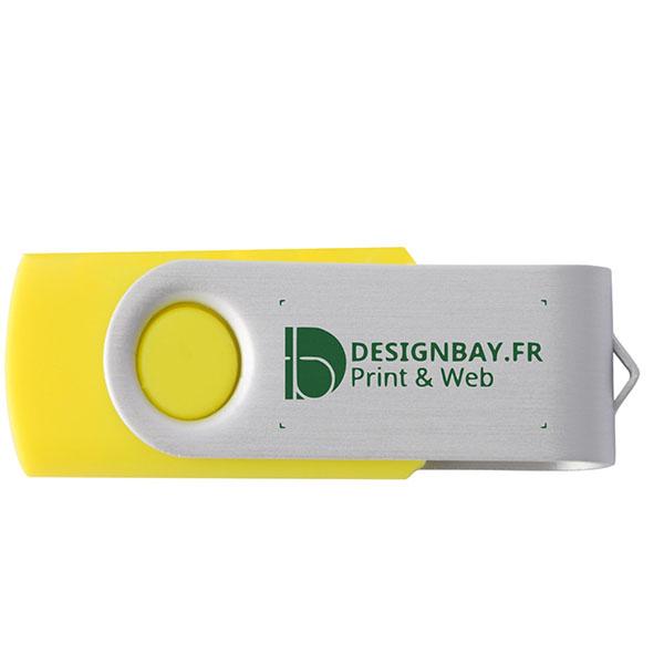 ht81 Clé USB basique rotative de 1 Go jaune