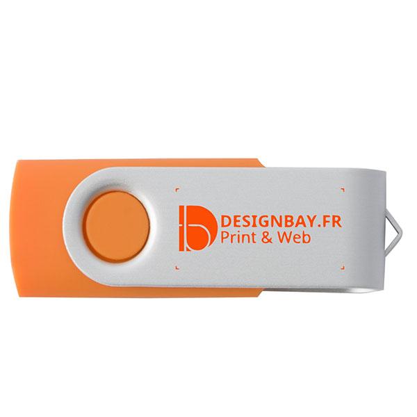ht81 Clé USB basique rotative de 1 Go orange