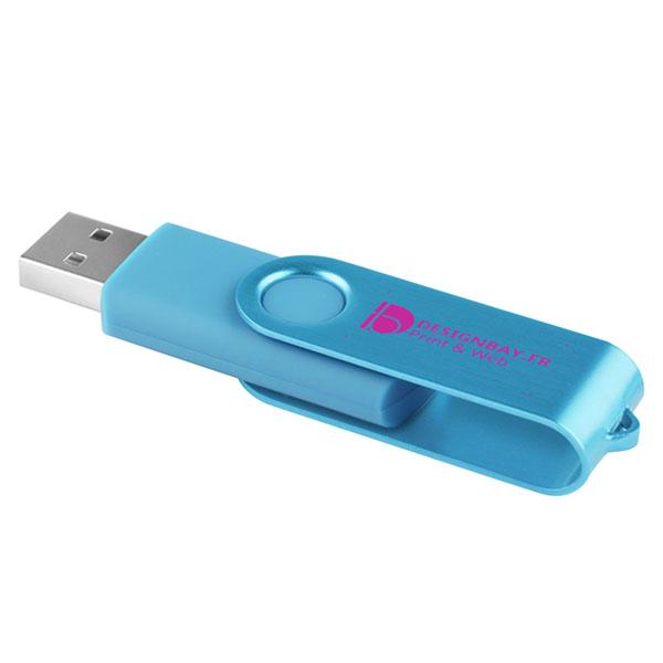 ht83 Clé USB effet métallisé 2 Go bleu ciel