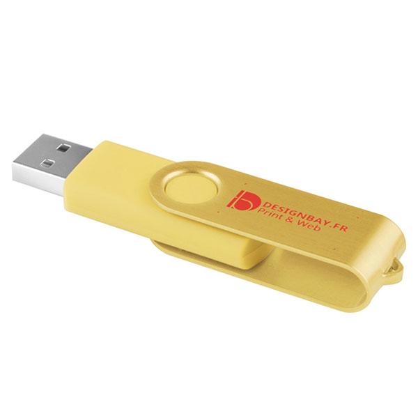 ht83 Clé USB effet métallisé 2 Go jaune