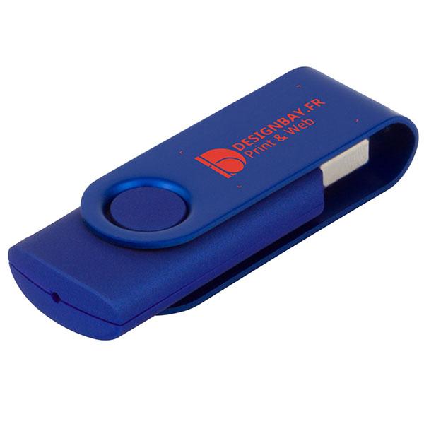 ht85 Clé USB métallisée rotative 4 Go bleu