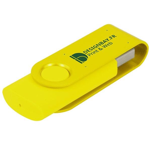ht85 Clé USB métallisée rotative 4 Go jaune
