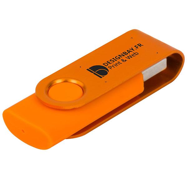 ht85 Clé USB métallisée rotative 4 Go orange