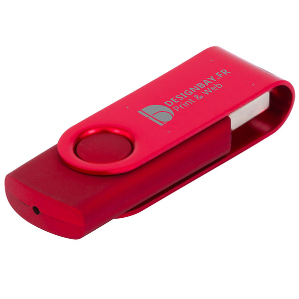 ht85 Clé USB métallisée rotative 4 Go rouge