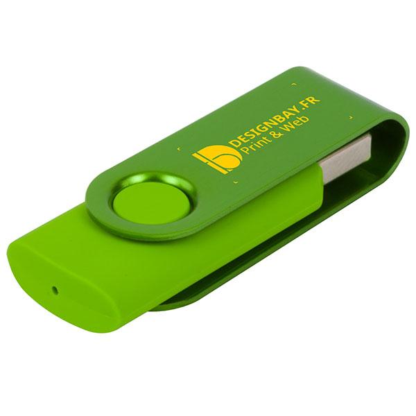 ht85 Clé USB métallisée rotative 4 Go vert